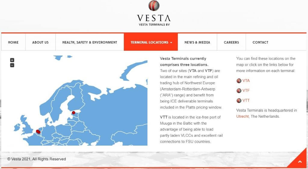 Vesta Terminals